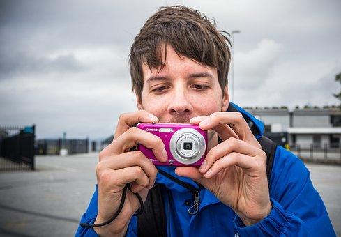 Boy, Man, Digital Camera, Photography, Photograph