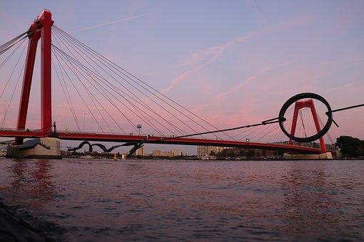 Bridge, Netherlands, City, Architecture, Modern, Sky