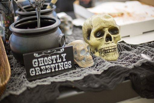 Ghostly Greetings, Halloween, Haunted, Cauldron