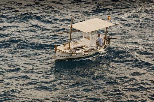 Boat, Sea, Vacations, Fishing, Lake, Lonely