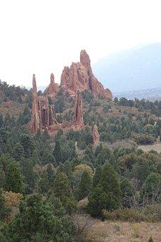 Colorado, Garden Of The Gods, Landscape, Park, Sky