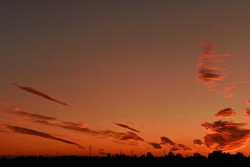 Dawn, In The Morning, Sunrise, Lying, Sky, Beautiful