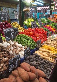 Farmers Market, Market, Vegetables, Food, Tomato