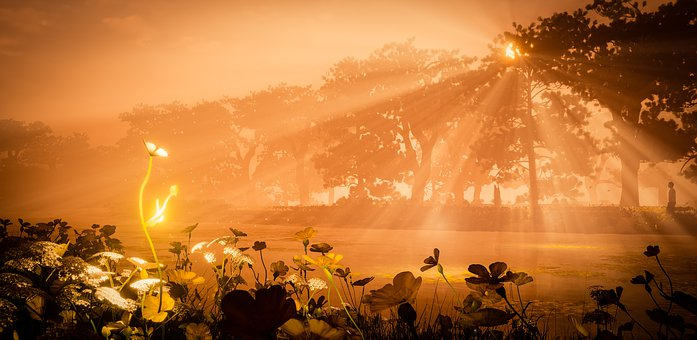 Sunrise, Computer Graphics, Unreal 4, Morning