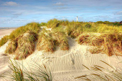 Blavand, Denmark, North Sea, Lighthouse, Beach, Nature