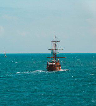 Boat, Sailing, Browsing, Blue, Nature