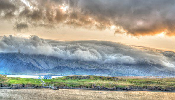 Iceland, Dawn, Sunrise, Nature, Landscape, Clouds, Sky
