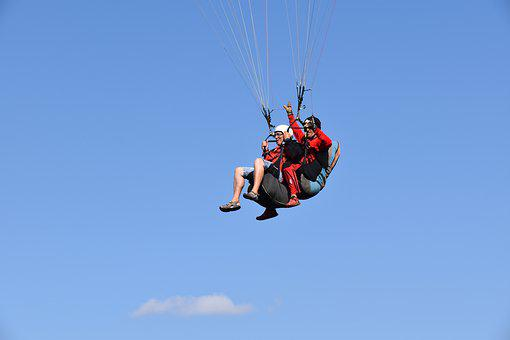 Paragliding, Two-seater, Pair, Tandem, Paragliders