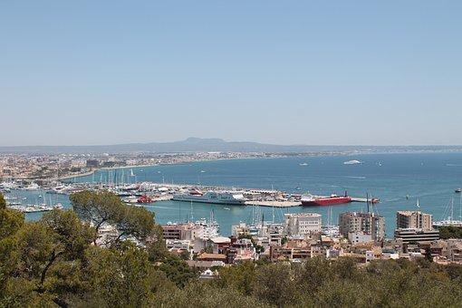 Palma, Mallorca, Port, View, Spain, Balearic Islands