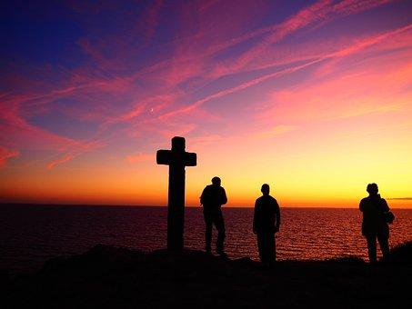 Cross, Evening, Morning, Resurrection, Faith, Christian