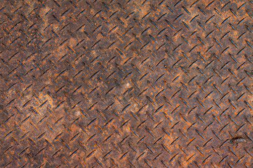Corten Metal, Red Steel, Iron, Surface, Rust