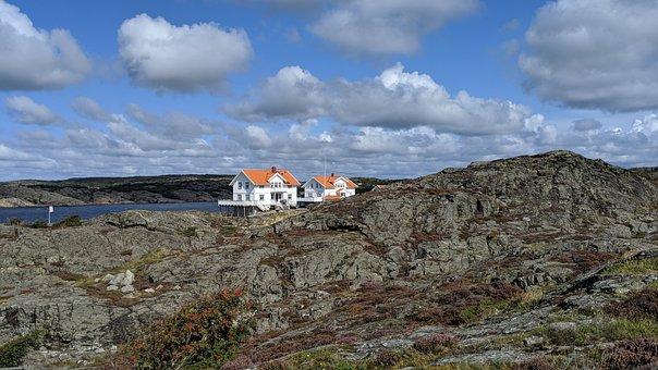 Sweden, Dyrön, Rocky, Seaside, Sea, Nature, Landscape