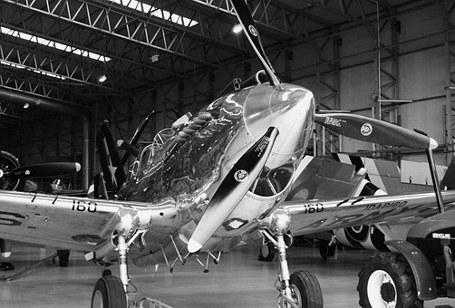 Spitfire, Silver, Polished, World War Two, Chrome