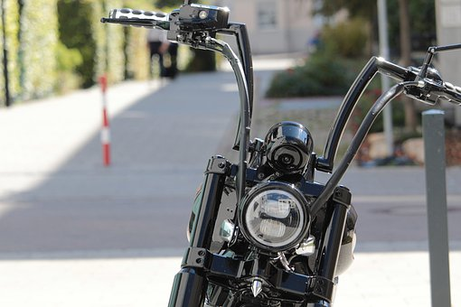 Motorcycle, Chopper, Chrome, Two Wheeled Vehicle