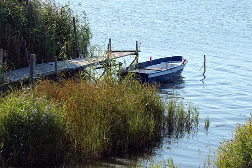 Boat, Rowing Boat, Water, Lake, Rest, Nature, Landscape