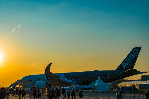 A350, Sunset, The Show, Static, Airshow, Aviation