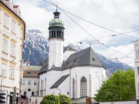 Old, Church, City, Innsbruck, Architecture, Beautiful