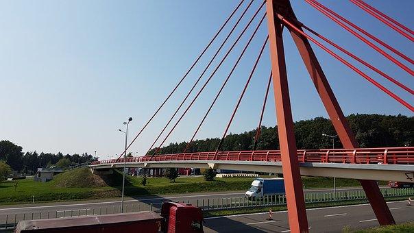 Bridge, Spams, Architecture, Metal, Fence Bay