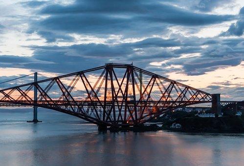 Bridge, Tyne, Newcastle, Tyneside, Architecture, Sunset
