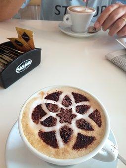 Cappuccino, Breakfast, Bar, Newspapers, Sugar, Food