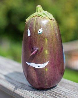 Eggplant, Food, Vegetables, Healthy, Fresh, Eat