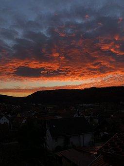 Afterglow, Twilight, Sunset, Abendstimmung, Evening Sky