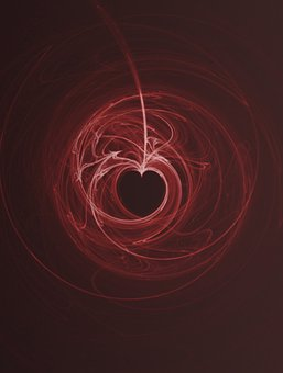 Heart, Love, Dark, Red, Art, Abstract