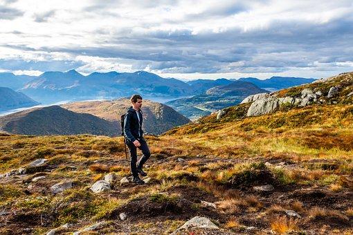 Autumn, Norway, Volda, Hiking, Hike, Human, Backpack