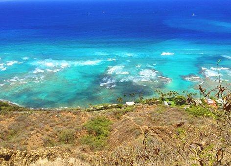 United States Of America, Hawaii, Honolulu, Beach, Sea