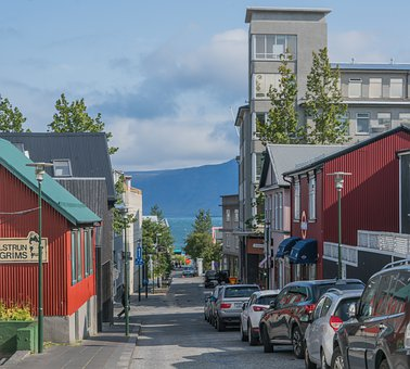 Iceland, Reykjavik, Architecture, City, Mountain