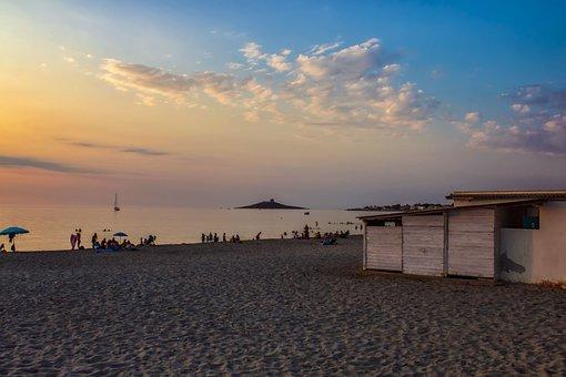 Landscape, Sea, Water, Nature, Sky, Sunset, Beach