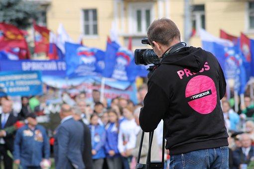 Journalist, Operator, Camera, Reporter, News, Man