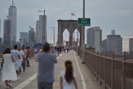 Ny, Bridge, Street, Brooklyn