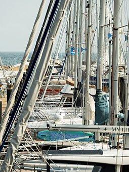 Marina, Sailing Boats, Port, Investors, Masts, Headsail