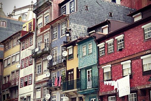 Porto, Portugal, City, Building, Historic Center