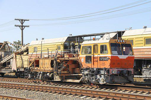 Railway, Rails, Iron, Cars, Sleepers, Locomotive