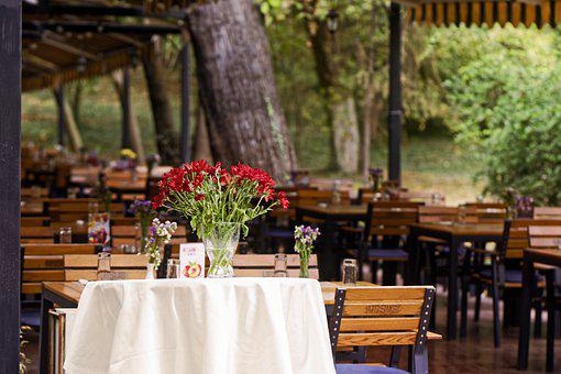 Terrace, Restaurant, The Tables, Chairs, Nature, Park