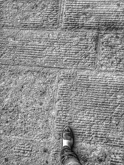 City, Road, Foot, Street, Pavement, People