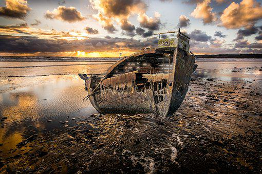 Wreck, Ship, Rusty, Old, Metal, Rusted, Abandoned
