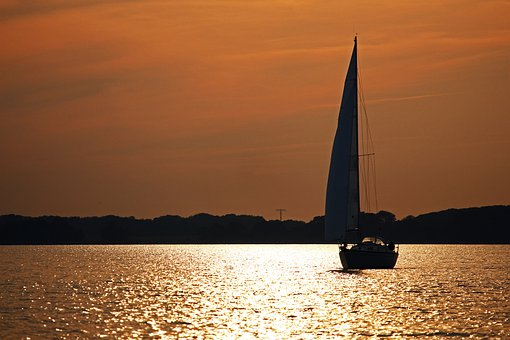 Greifswalder Bodden, Sail, Leisure, Sailing, Coast