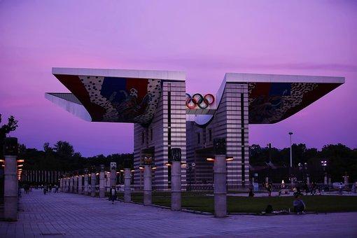 Olympic Park, Park, Korea, Landscape, Building, Scenery