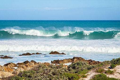 Beach, Sea, Coast, Ocean, Water, Landscape, Waves, Rock