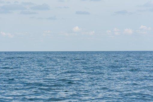 Sea, Sky, Blue Color, Calm, Beautiful Background, Rest