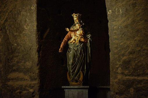 Madonna, Virgin Mary, Statue, Sculpture