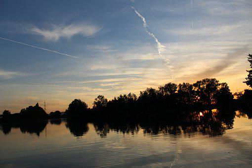 Sunset, Lake, Sky, Water, Landscape, Nature, Reflection