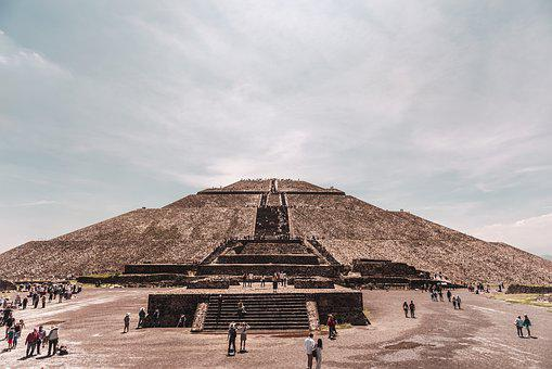 Ruins, Mexico, Teotiuacan, Pyramid, Stone, Architecture