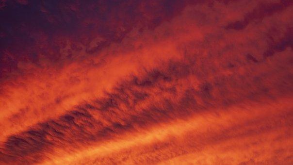 Sky, Texture, Clouds, Nature, Pattern, Sun, Summer