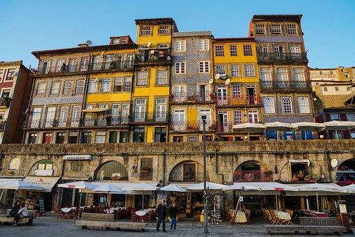 Portugal, Porto, City, Building, Rio, Tourist