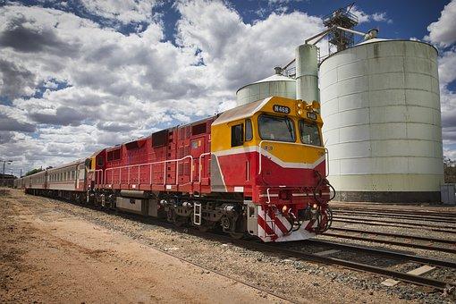 Train, Locomotive, Railway, Transport, Rail, Tracks