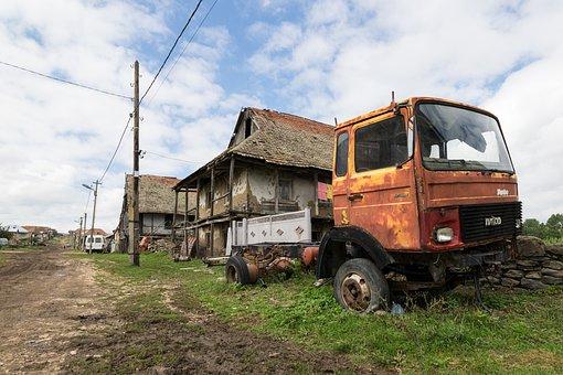 Scrap, Rust, Old, Truck, Wreck